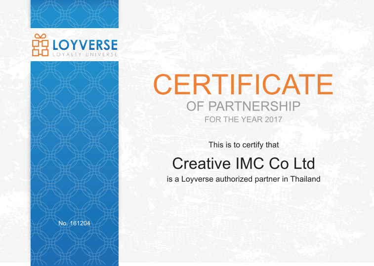Loyverse Certificate Of Partnership